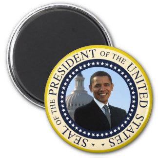Azul del sello de Obama Imán Redondo 5 Cm