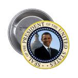 Azul del sello de Obama Pin