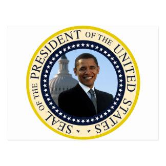 Azul del sello de Obama Postales
