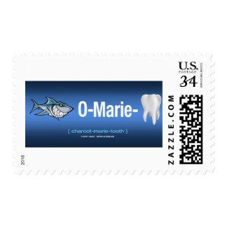 Azul del sello del Tiburón-o-Marie-Diente