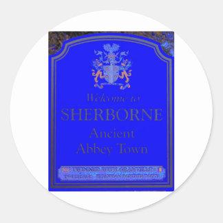 azul del sherborne pegatina redonda
