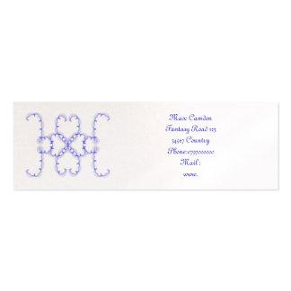 azul del símbolo de la fantasía tarjetas de negocios