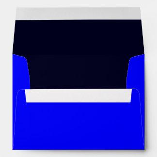 Azul del sobre A7/azul marino reales