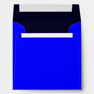 Azul del sobre cuadrado/azul marino reales