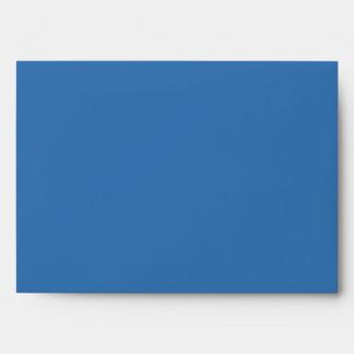 Azul del sobre de la invitación de la estrella de