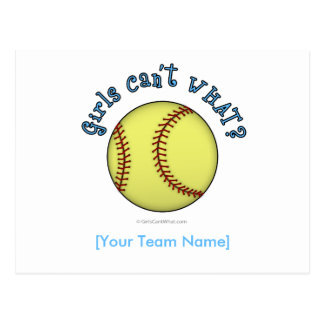 Azul del Softball-Cielo Tarjetas Postales