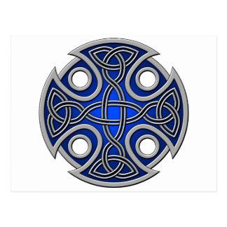 Azul del St. Brynach y gris cruzados Tarjetas Postales