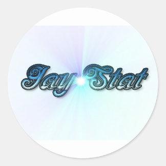 Azul del Stat de Jay Etiquetas Redondas