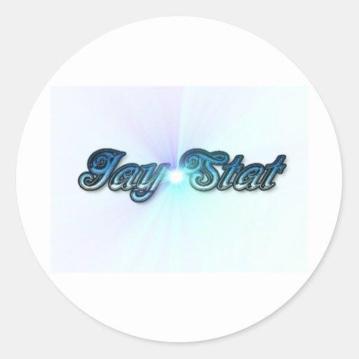 Azul del Stat de Jay Pegatina Redonda