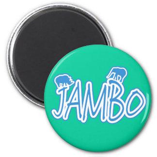 Azul del suajili de Jambo hola Imán Redondo 5 Cm