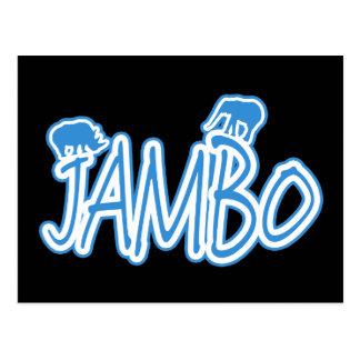 Azul del suajili de Jambo hola Postales