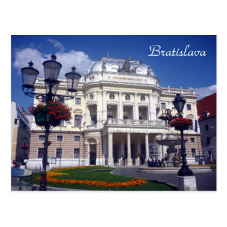 azul del teatro de Bratislava Postales