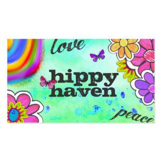Azul del teñido anudado del hippy de la tarjetas de visita