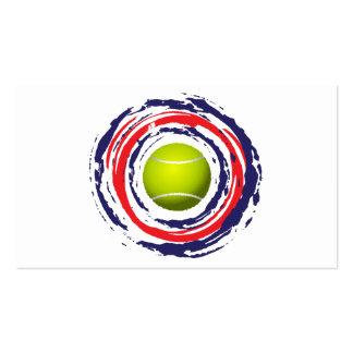Azul del tenis y blanco rojos tarjetas de visita