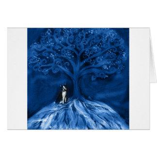 Azul del terrier de Boston Tarjeta De Felicitación