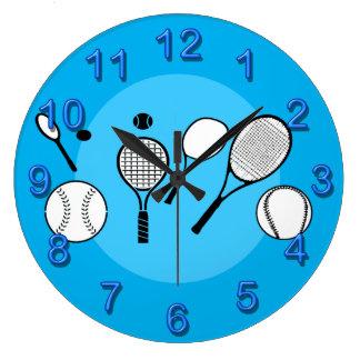 Azul del tiempo del tenis relojes