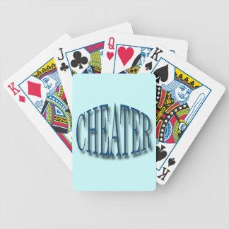 Azul del tramposo barajas de cartas