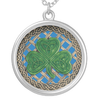 Azul del trébol y del collar de los nudos del Celt
