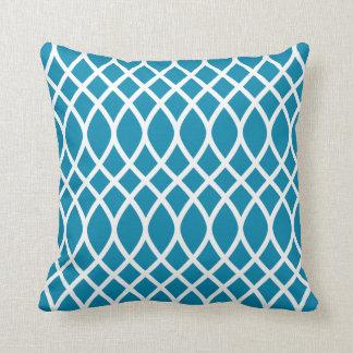 Azul del trullo de la almohada el del modelo del