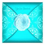 Azul del trullo del rosa de damasco del trullo invitación
