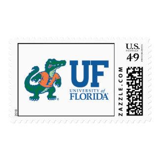 Azul del uF con Albert Timbre Postal