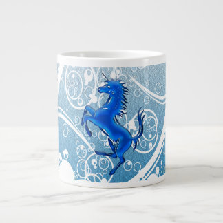 Azul del unicornio 1 taza grande