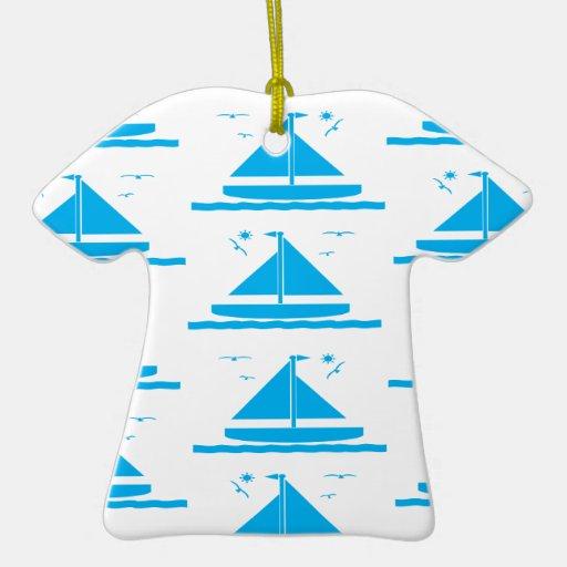 Azul del velero adorno de reyes