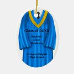 Azul del vestido del graduado y ornamento masculin ornamente de reyes