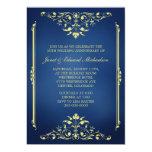 Azul del Victorian e invitación del aniversario