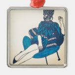 Azul del vintage ornamento para arbol de navidad