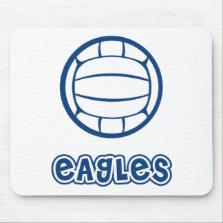 Azul del voleibol de Eagles Alfombrillas De Raton
