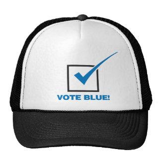 Azul del voto gorro de camionero
