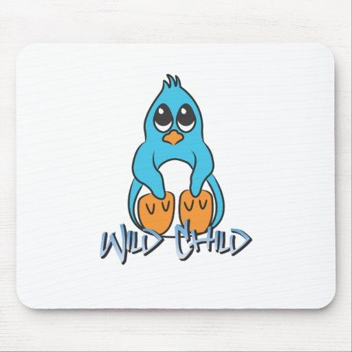Azul del WC del pingüino Alfombrilla De Ratones
