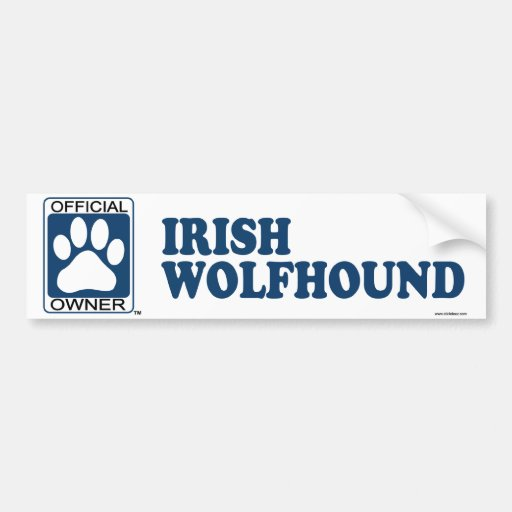 Azul del Wolfhound irlandés Pegatina De Parachoque