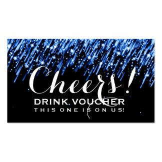Azul del zafiro de la bebida del vale de las tarjetas de visita