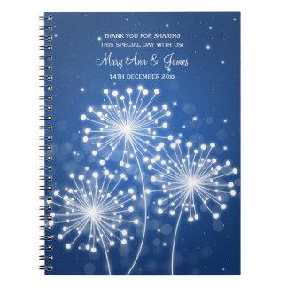 Azul del zafiro de la chispa del verano del favor spiral notebooks