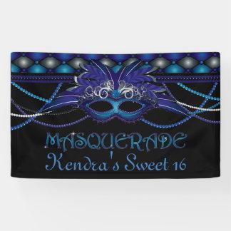 Azul del zafiro, fiesta de la mascarada lona