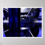 Azul dentro de la nave posters