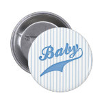Azul deportivo del texto del bebé pin