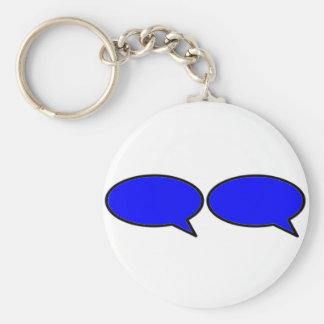 Azul derecho de la burbuja 2 de la palabra los reg llaveros personalizados