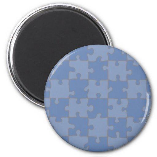 Azul desconcertado imán de frigorífico