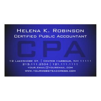 Azul destacado del censor jurado de cuentas de CPA Tarjetas De Visita