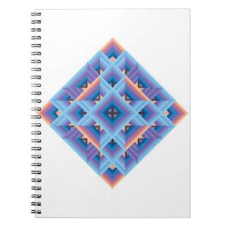 Azul, diamante geométrico púrpura del edredón cuadernos