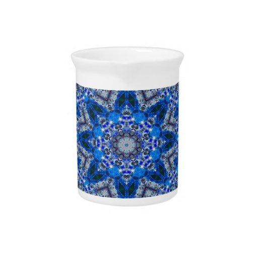 Azul diseño abstracto geométrico de la estrella de jarras de beber