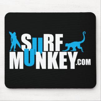 Azul - diseño de la cartelera de Munkey de la resa Alfombrillas De Ratón
