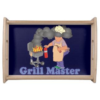 Azul divertido de la barbacoa de Grill Master Bandejas