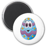 Azul divertido del huevo de Pascua Imán Para Frigorífico