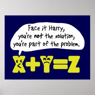 Azul divertido del problema de matemáticas impresiones