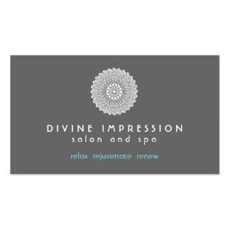Azul divino 2 de la impresión plantillas de tarjetas de visita