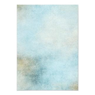 "Azul divino invitación 5"" x 7"""